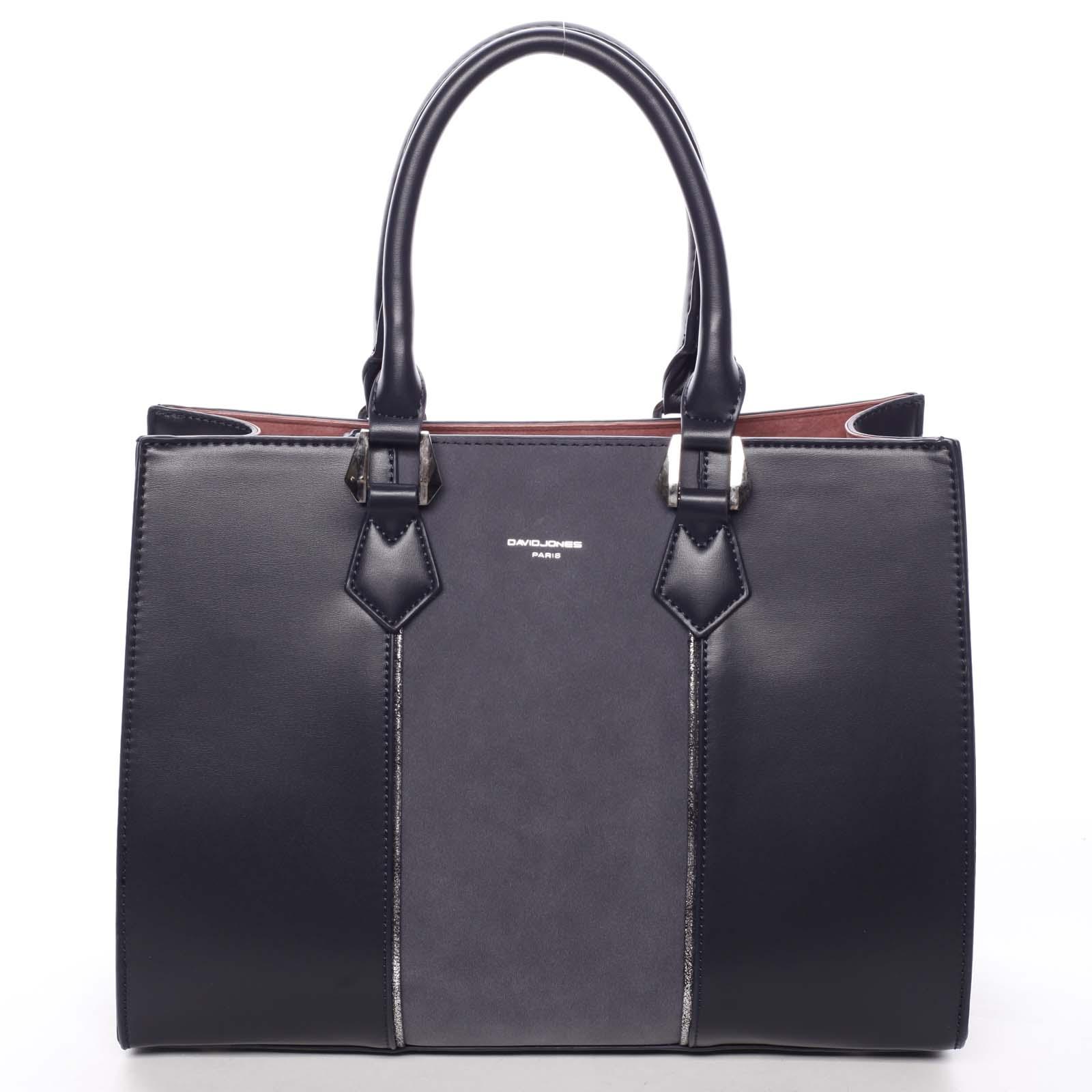 Elegantní dámská tmavě modrá kabelka do ruky - David Jones Zeruiah