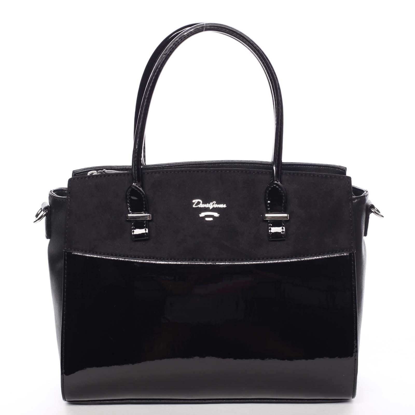 Nadčasová středně velká dámská černá kabelka - David Jones Leonelle