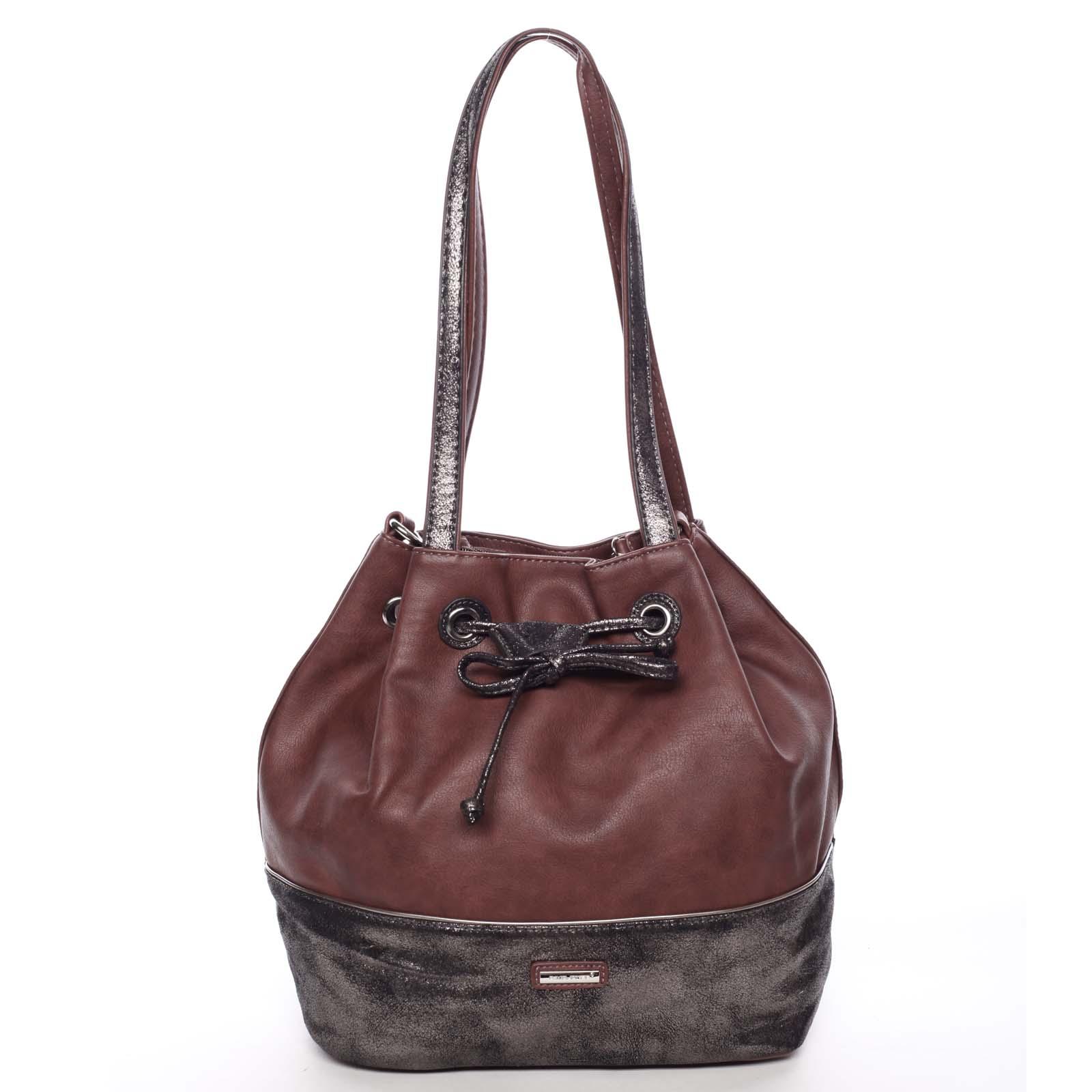 Elegantní měkká dámská kabelka přes rameno vínová - David Jones Nanette