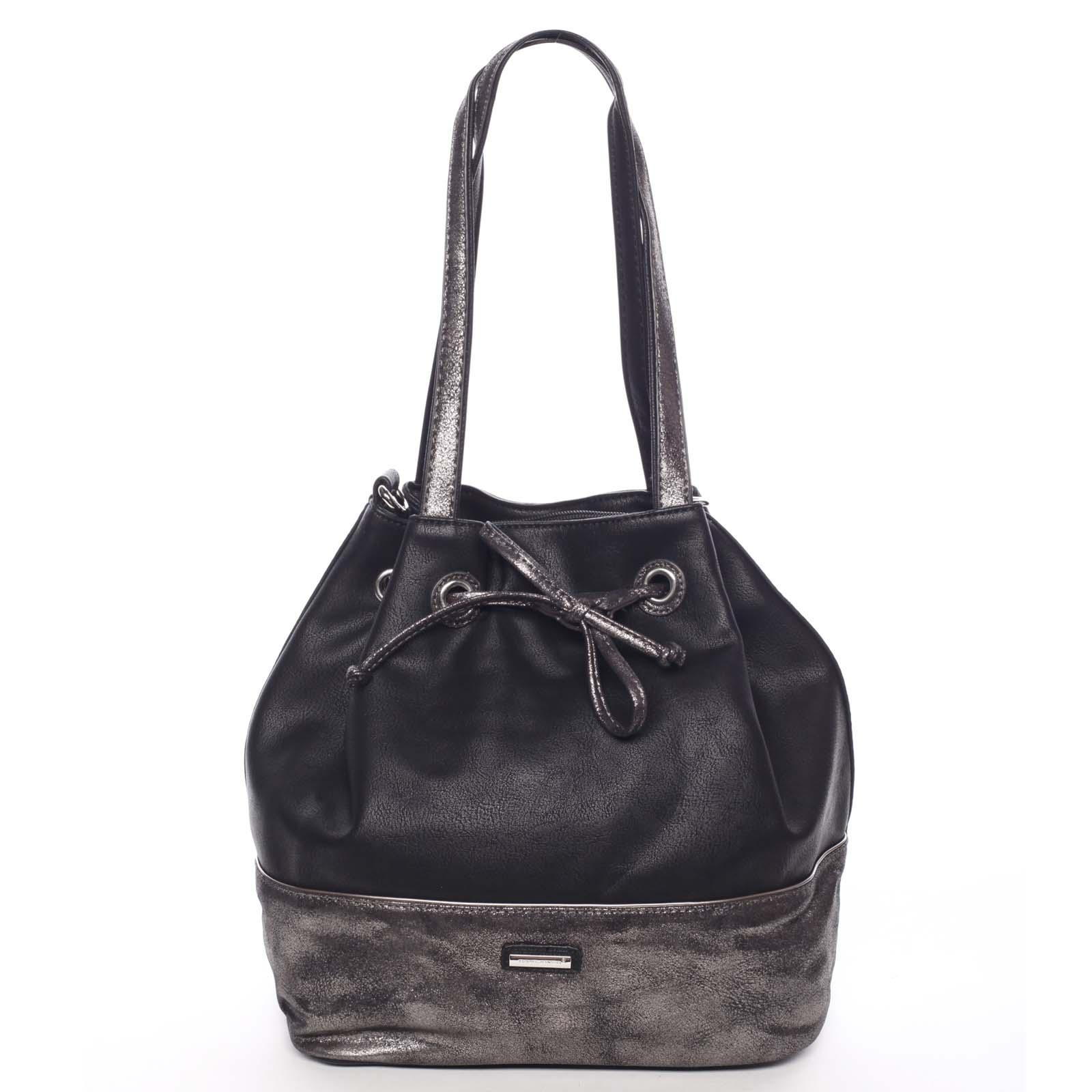 Elegantní měkká dámská kabelka přes rameno černá - David Jones Nanette
