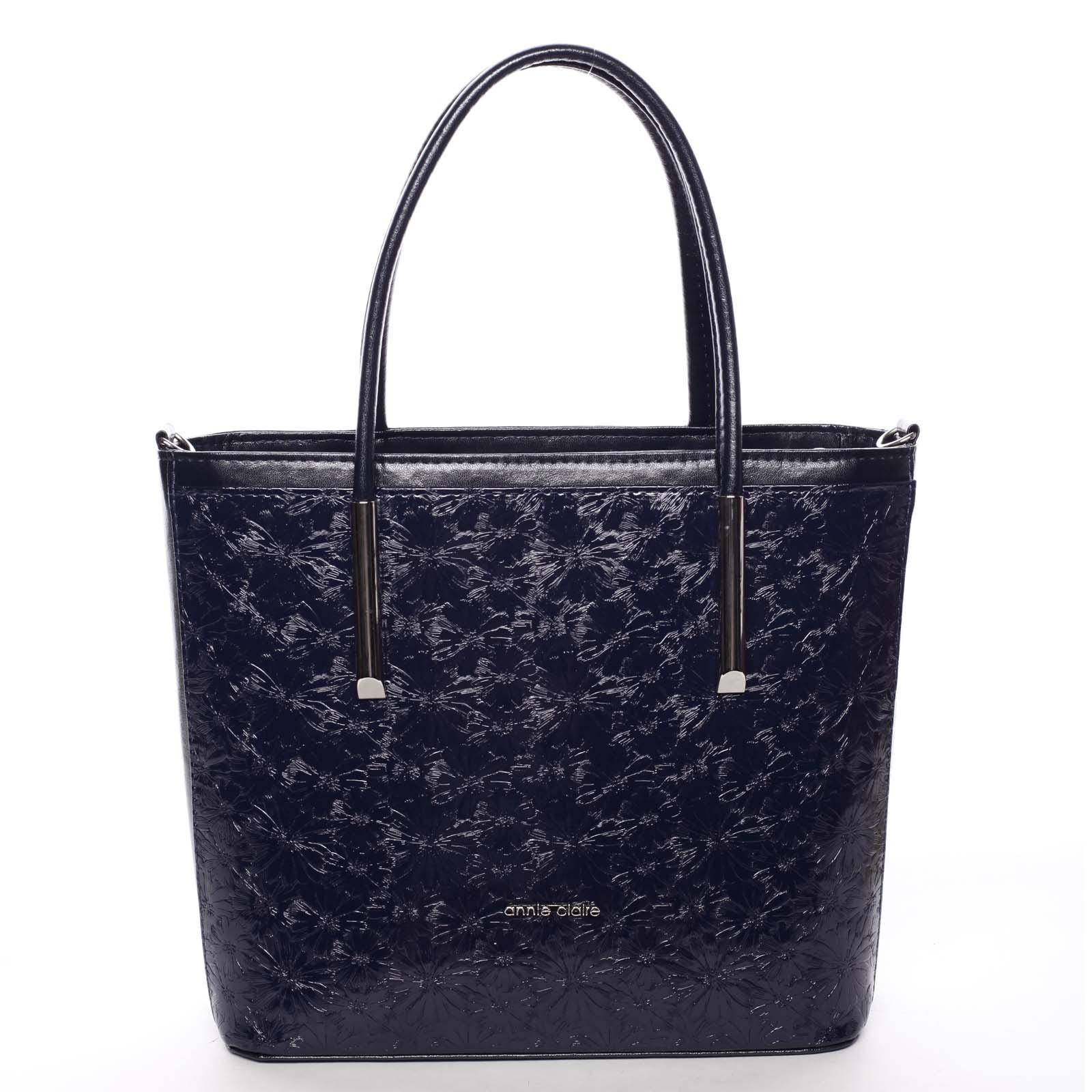 Dámská jemná tmavě modrá kabelka se vzorem květin - Annie Claire Flower