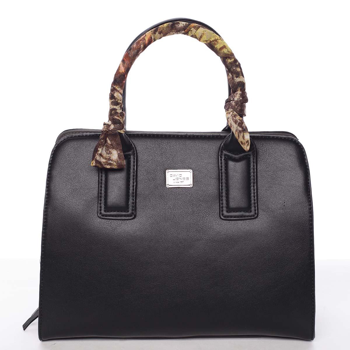 Stylová trendy dámská kabelka do ruky černá - David Jones Crescent