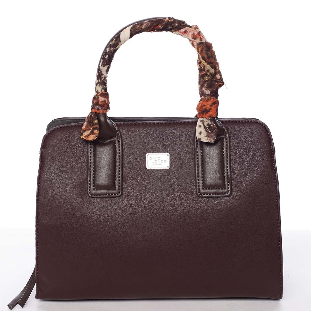 Stylová trendy dámská kabelka do ruky tmavě fialová - David Jones Crescent