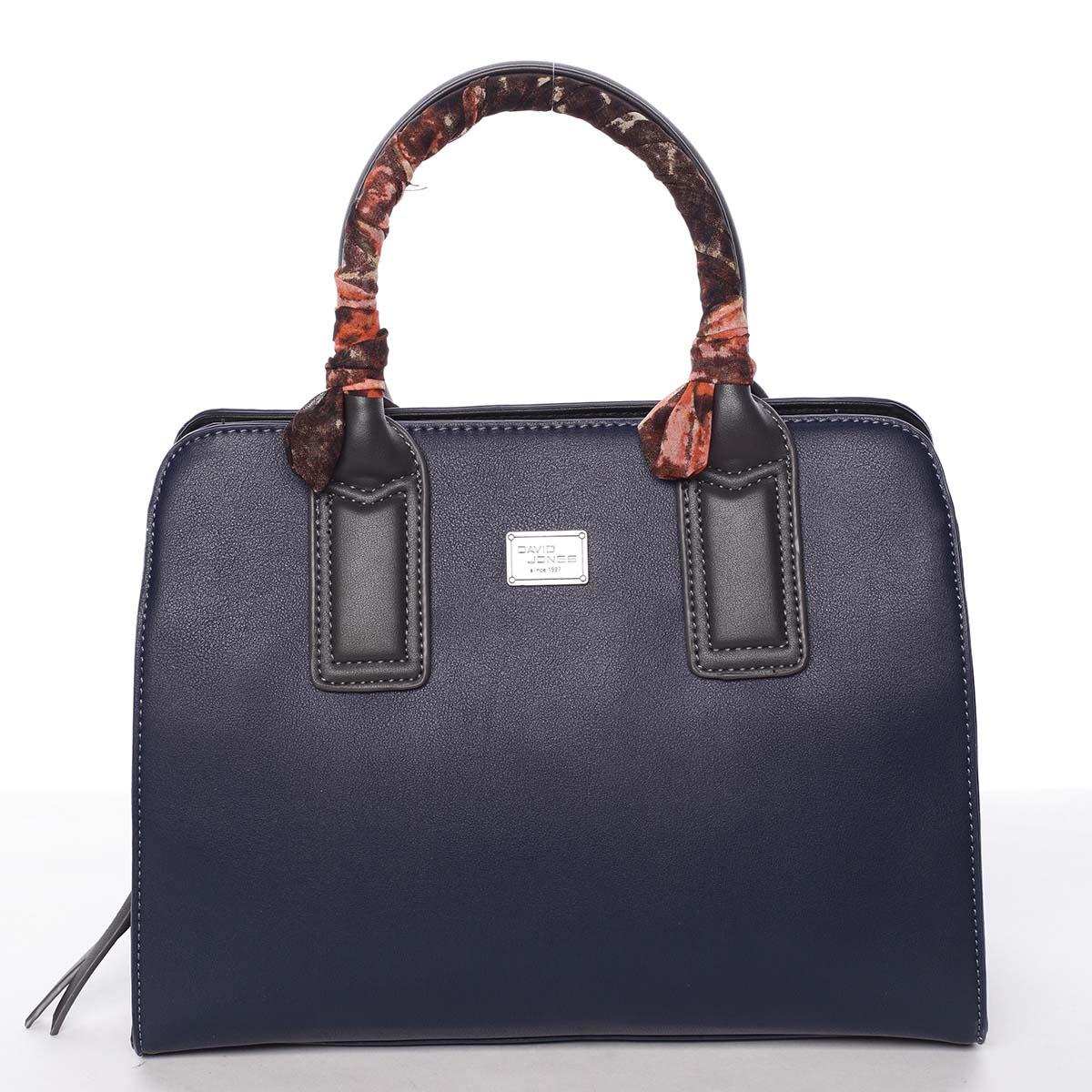 Stylová trendy dámská kabelka do ruky tmavě modrá - David Jones Crescent