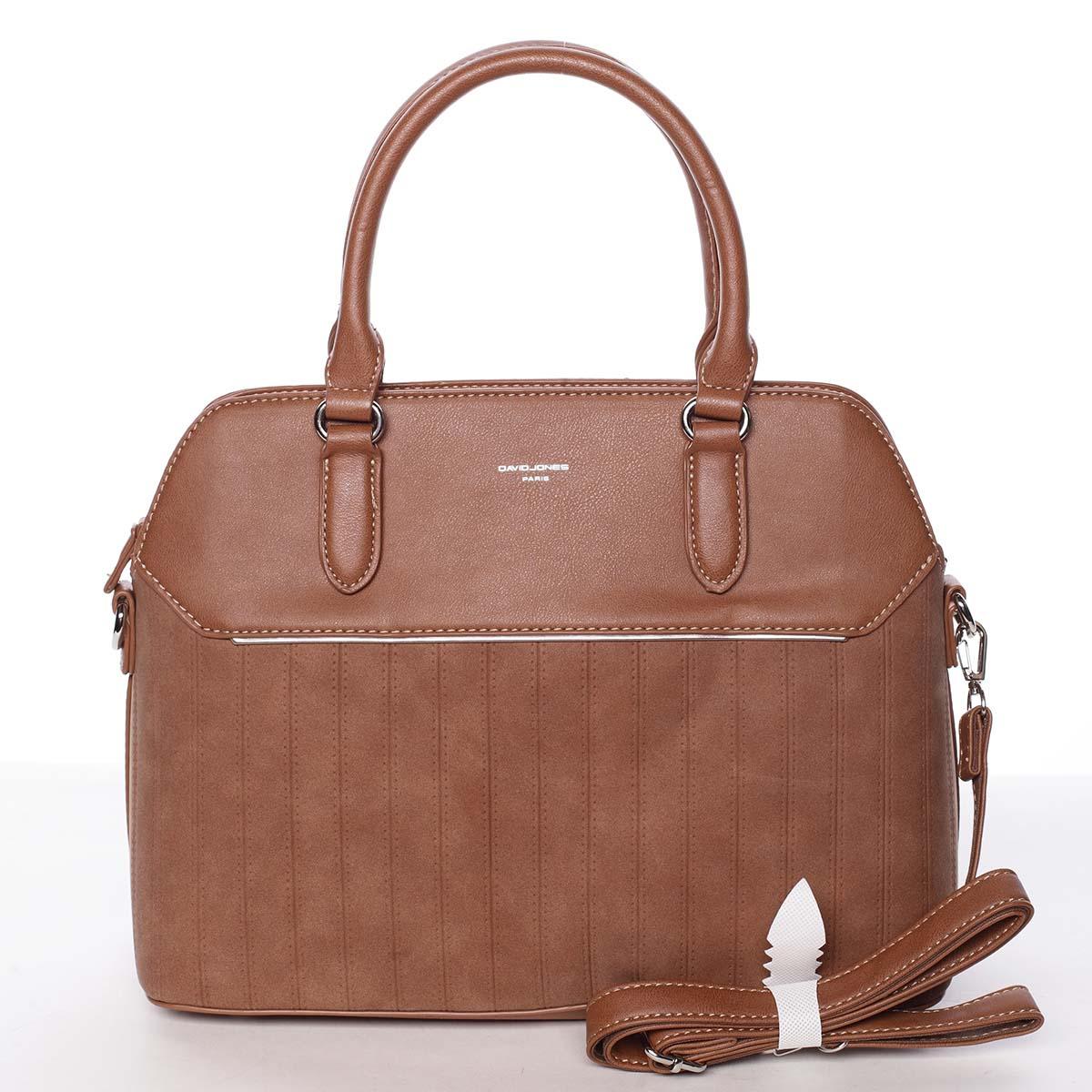 Luxusní a originální dámská koňaková kabelka - David Jones Admeta