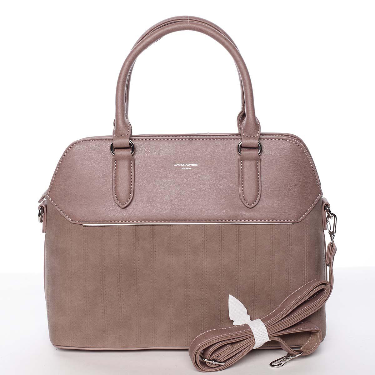 Luxusní a originální dámská tmavě růžová kabelka - David Jones Admeta