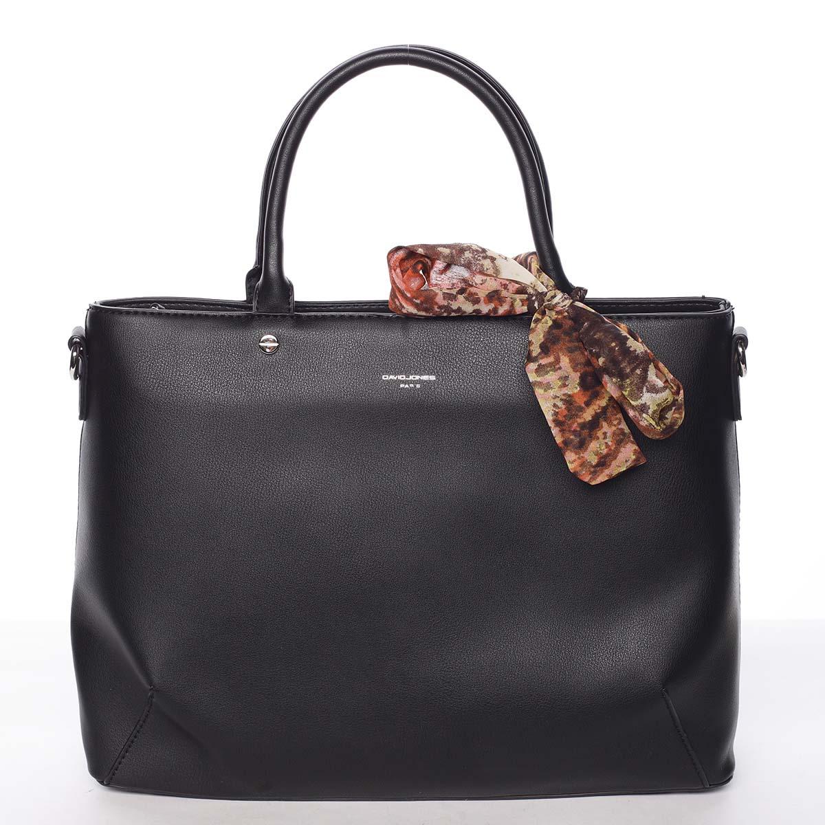 Módní dámská černá kabelka s mašlí - David Jones Harriet