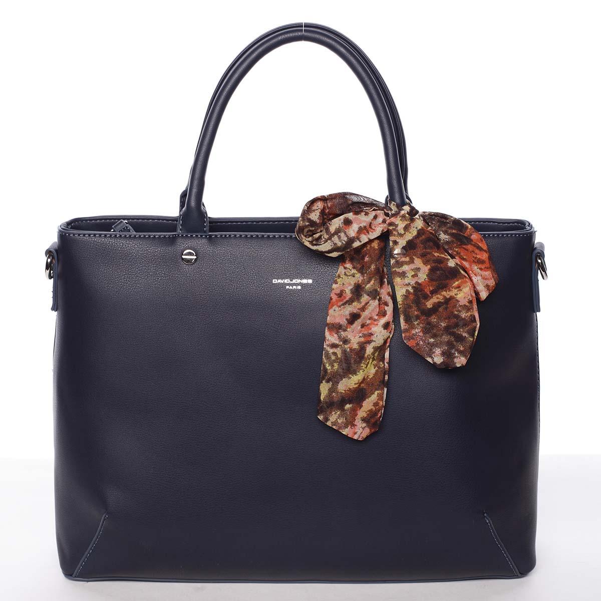 Módní dámská tmavě modrá kabelka s mašlí - David Jones Harriet