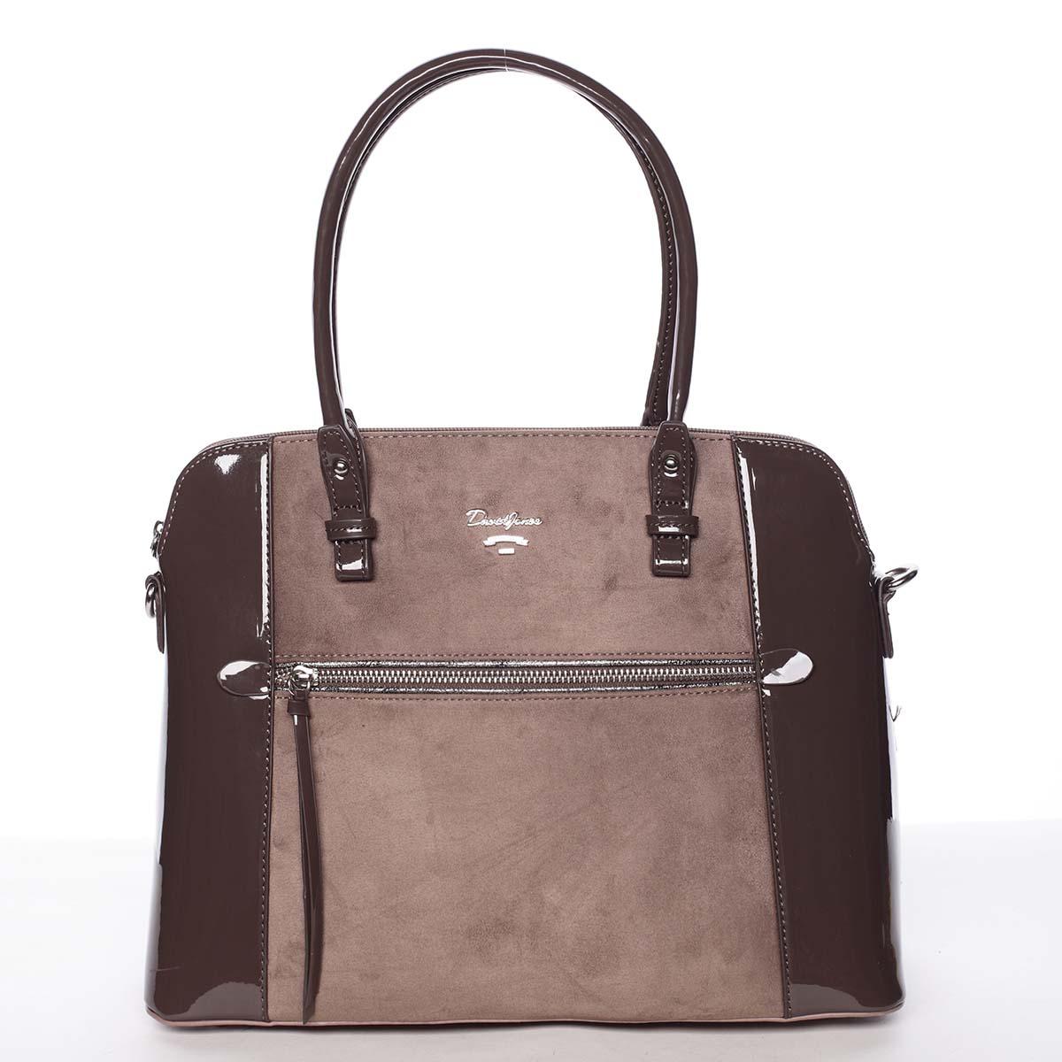 Jedinečná střední dámská starorůžová kabelka - David Jones Julietta