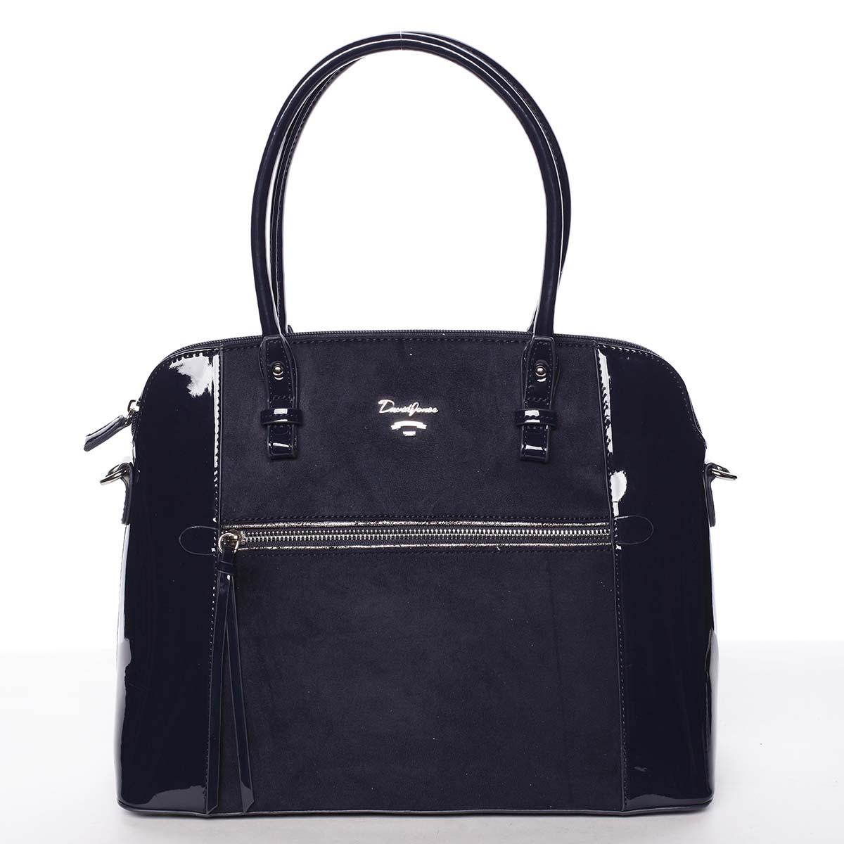 Jedinečná střední dámská tmavě modrá kabelka - David Jones Julietta
