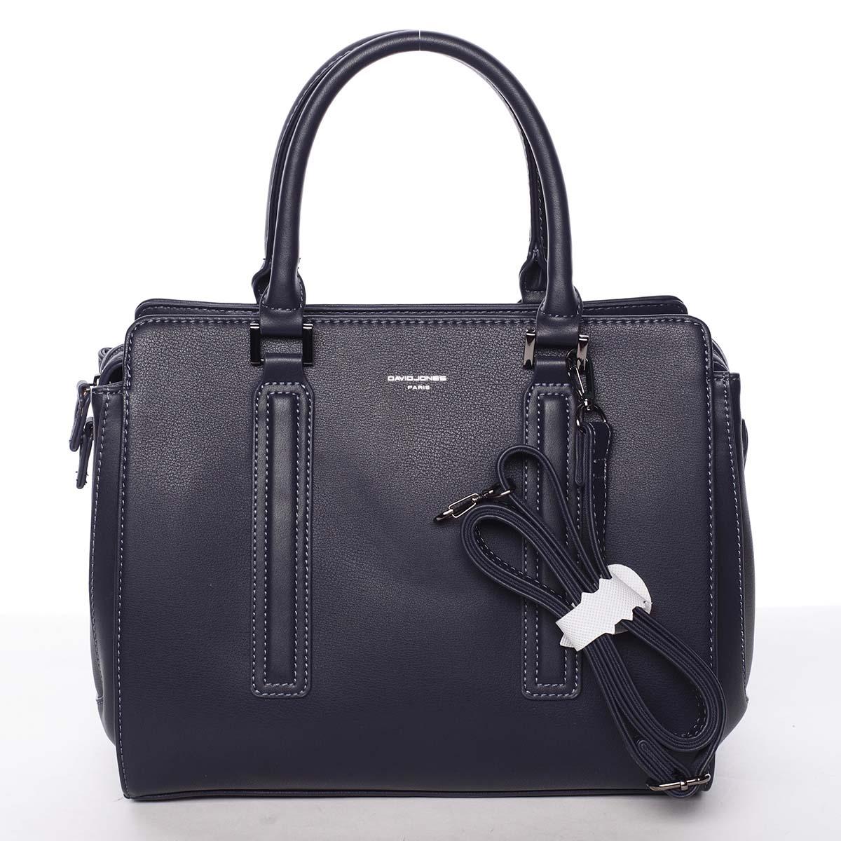 Elegantní stylová dámská tmavě modrá kabelka - David Jones Amedee