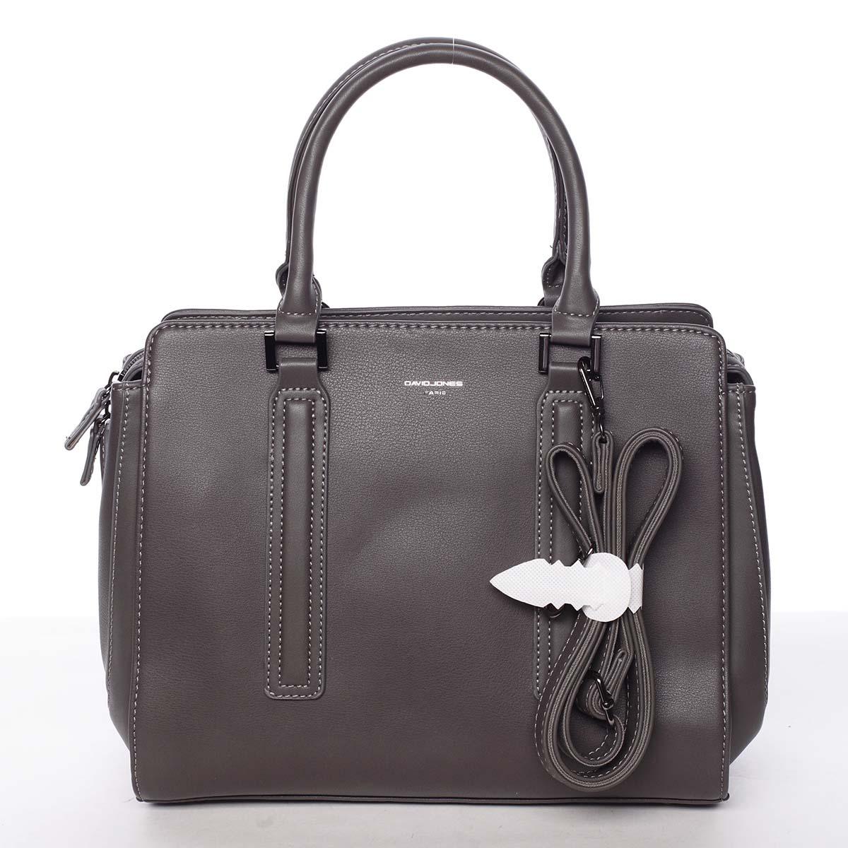 Elegantní stylová dámská tmavě šedá kabelka - David Jones Amedee