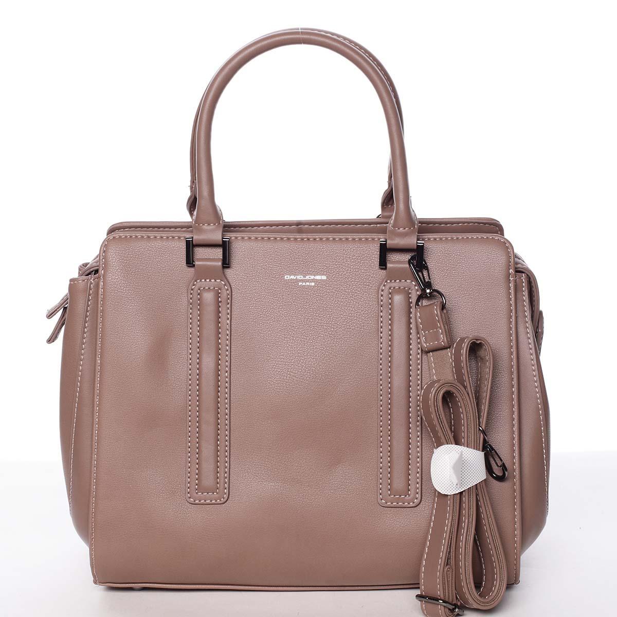 Elegantní stylová dámská starorůžová kabelka - David Jones Amedee