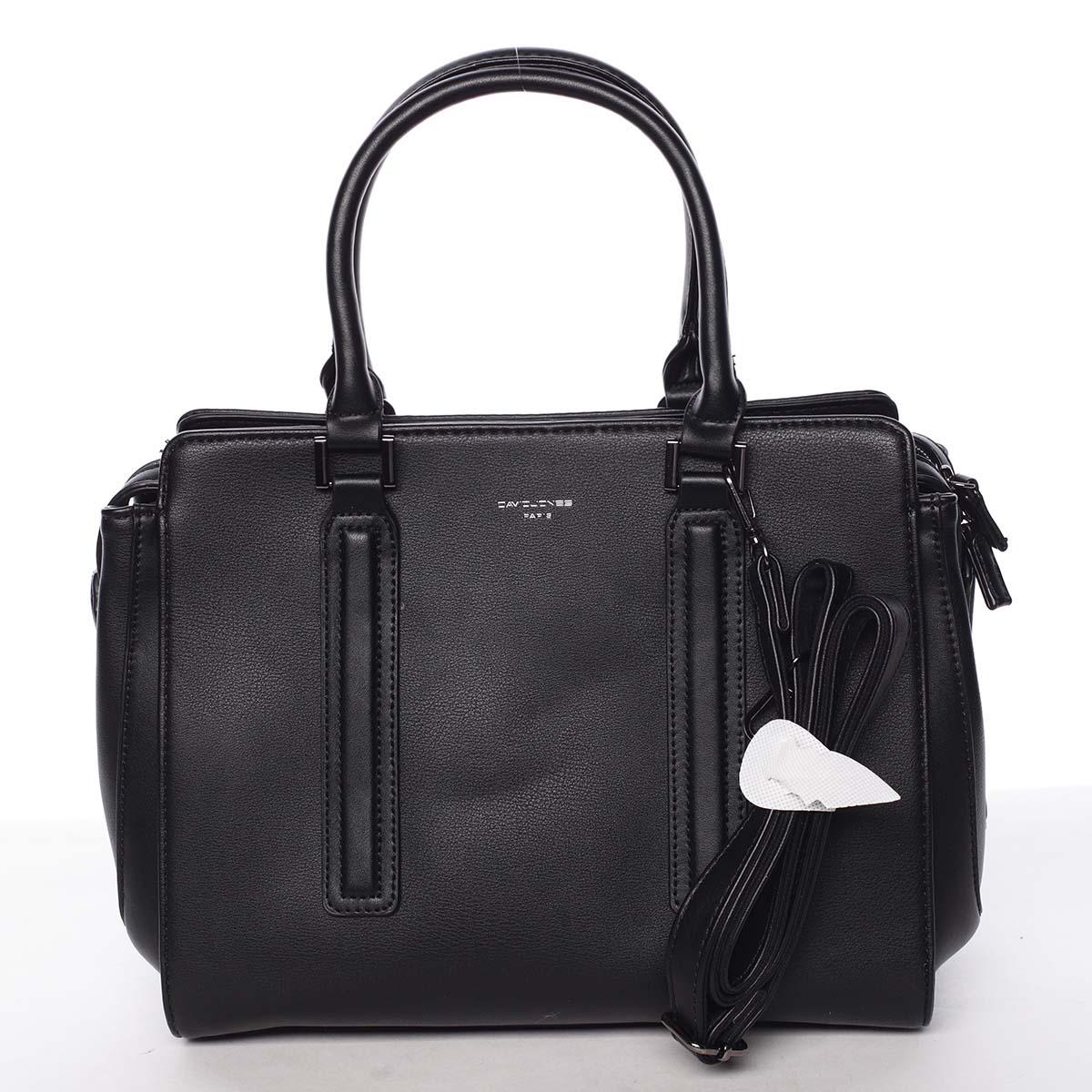 Elegantní stylová dámská černá kabelka - David Jones Amedee