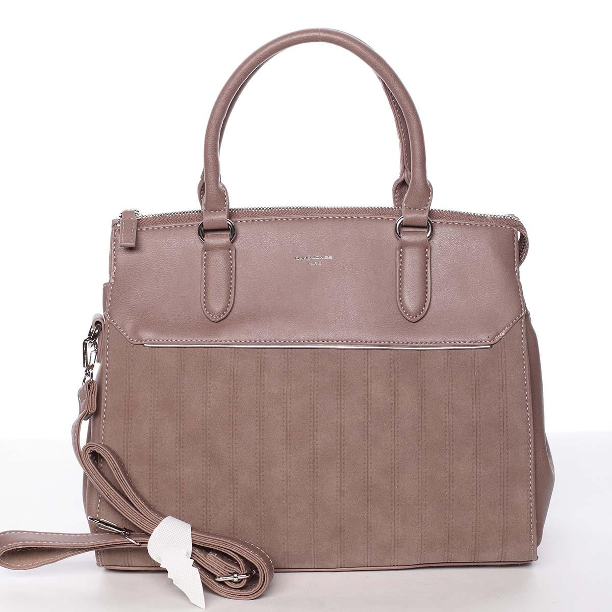 Luxusní nadčasová dámská starorůžová kabelka - David Jones Allison