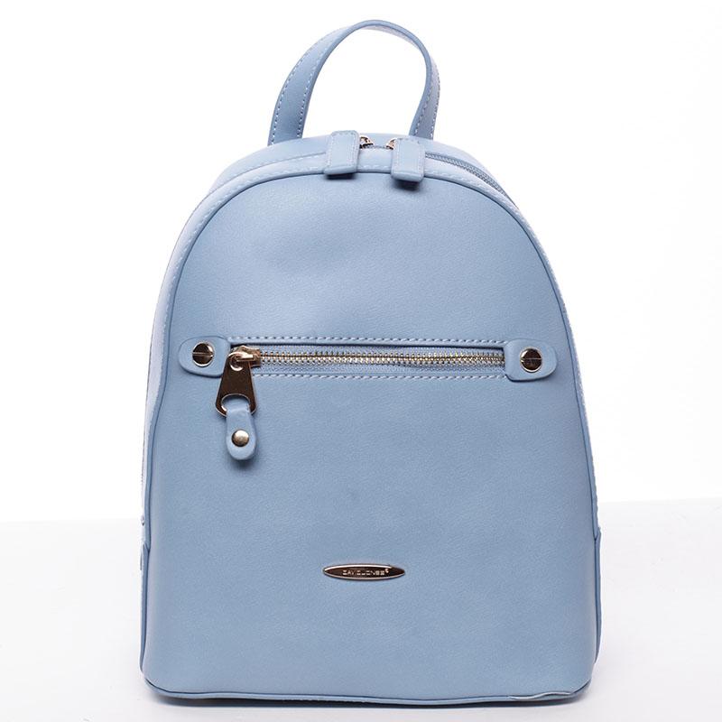 Dámský módní batůžek modrý - David Jones Lucette