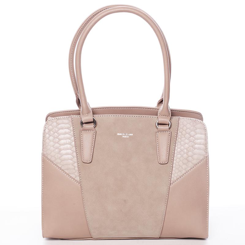 Elegantní dámská starorůžová kabelka přes rameno - David Jones Sirel