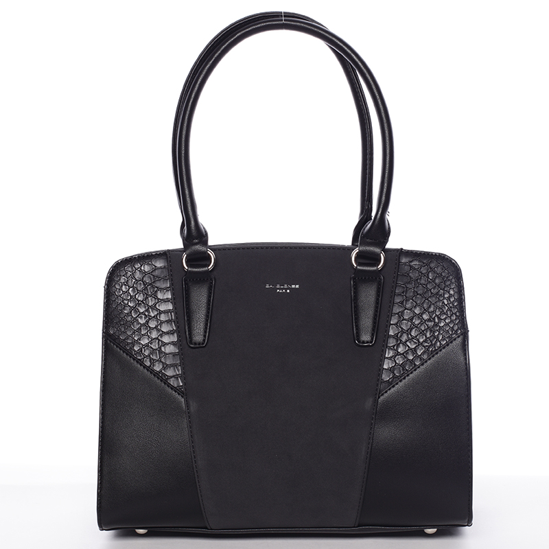 Elegantní dámská černá kabelka přes rameno - David Jones Sirel