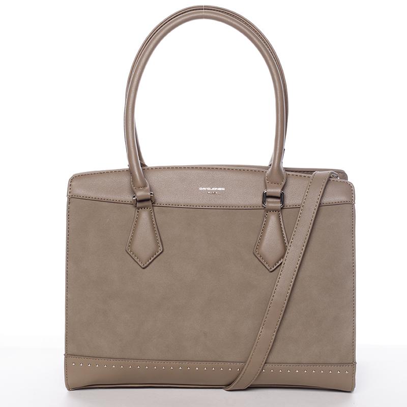 Elegantní khaki dámská kabelka - David Jones Comtessa