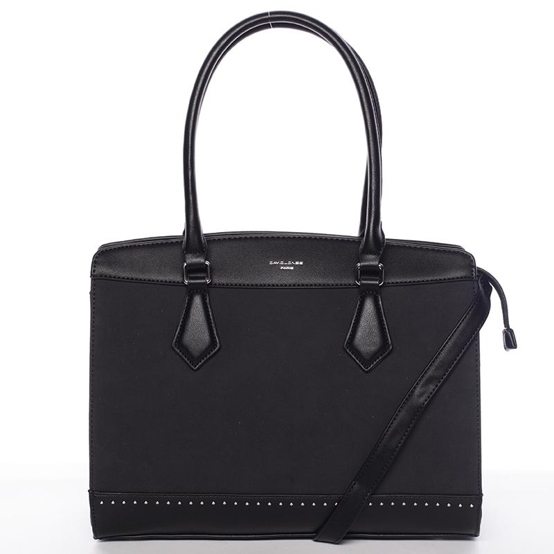Elegantní černá dámská kabelka - David Jones Comtessa