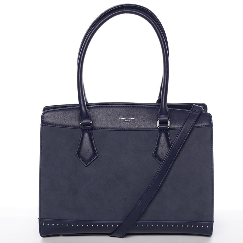 Elegantní tmavě modrá dámská kabelka - David Jones Comtessa