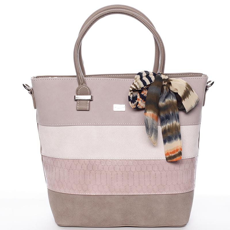 Originální růžová kabelka do ruky - David Jones Madyson