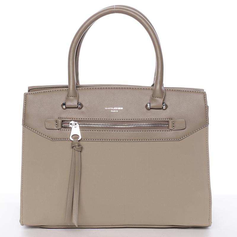 Jemná dámská elegantní kabelka do ruky khaki - David Jones Lethia