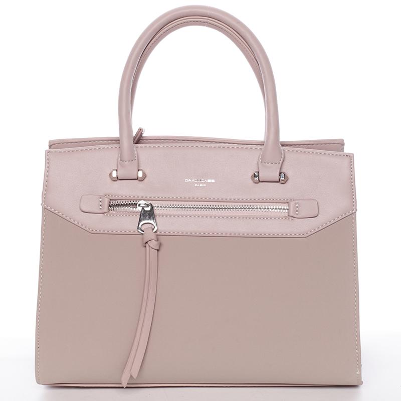 Jemná dámská elegantní kabelka do ruky růžová - David Jones Lethia