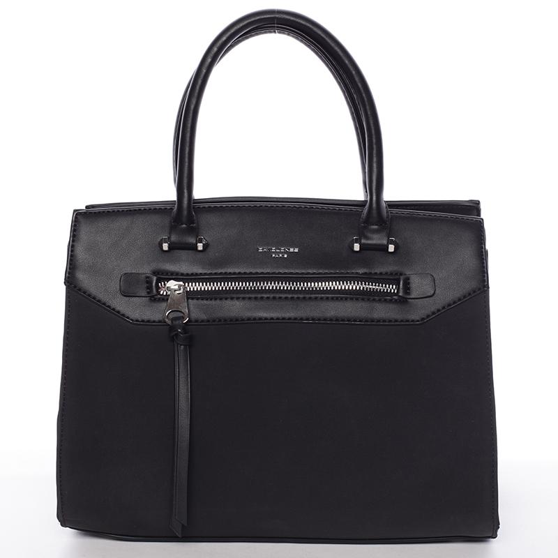 Jemná dámská elegantní kabelka do ruky černá - David Jones Lethia