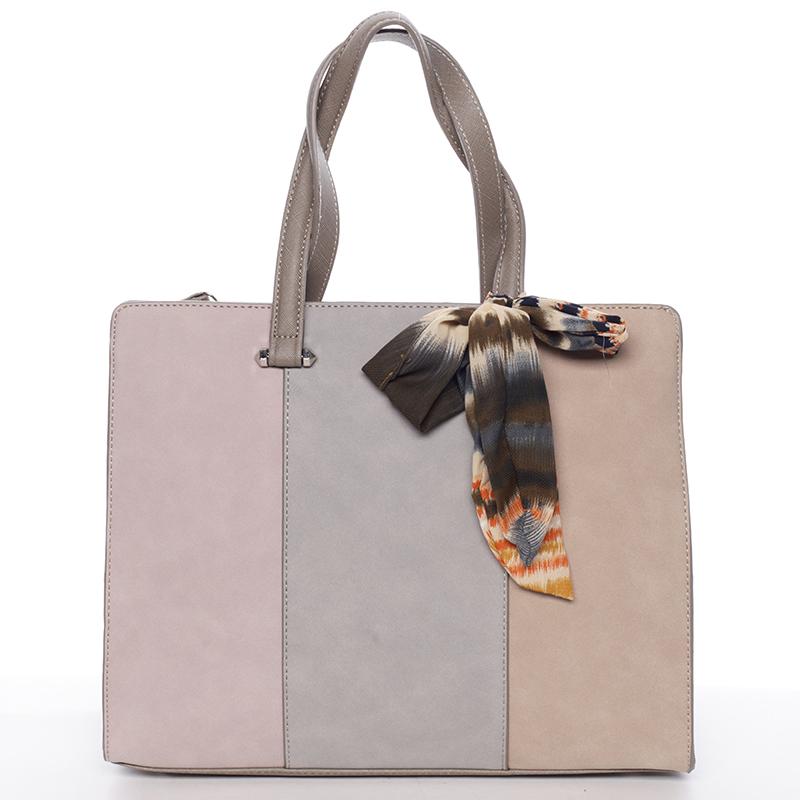 Elegantní šedá kabelka do ruky - David Jones Daphne