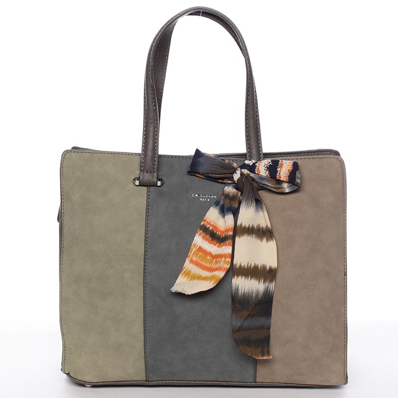 Elegantní khaki kabelka do ruky - David Jones Daphne
