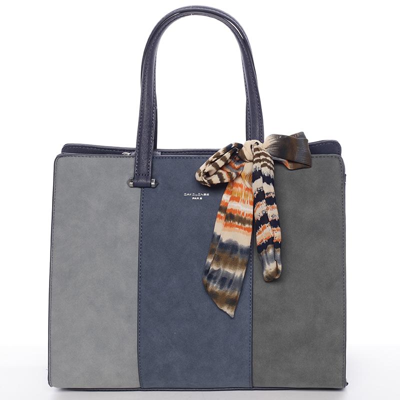 Elegantní modrá kabelka do ruky - David Jones Daphne