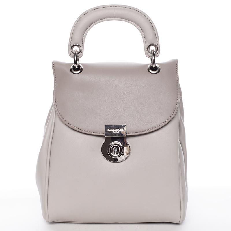 Originální šedý batůžek pro ženy - David Jones Anotal