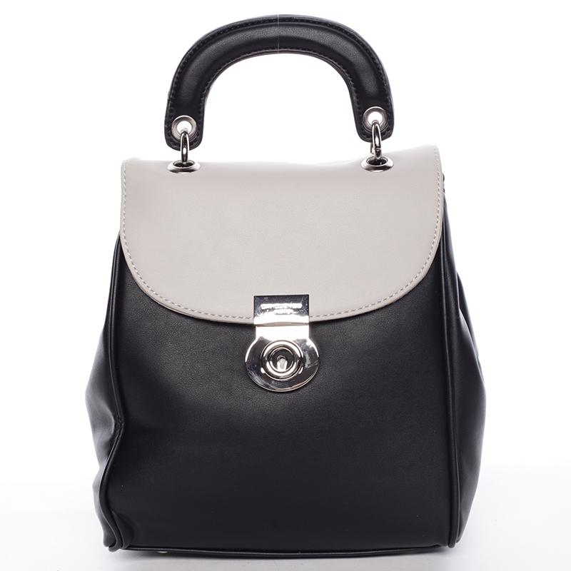Originální černo šedý batůžek pro ženy - David Jones Anotal