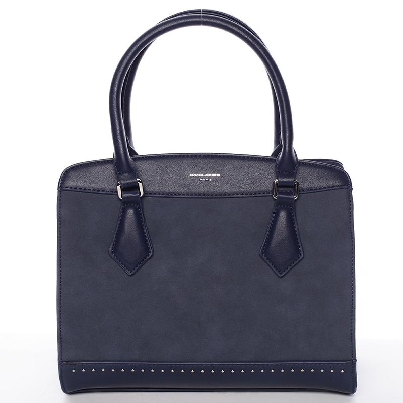Elegantní tmavě modrá dámská kabelka - David Jones Tessa