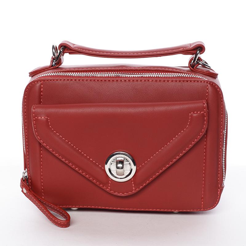 Malá atraktivní červená dámská crossbody kabelka - David Jones Lalita
