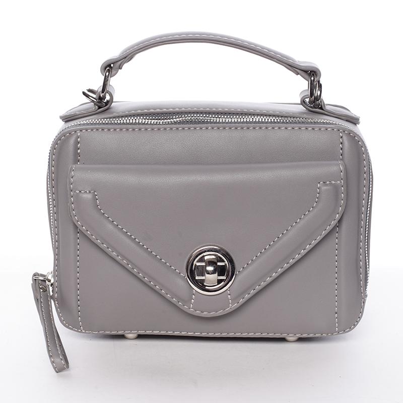 Malá atraktivní šedá dámská crossbody kabelka - David Jones Lalita