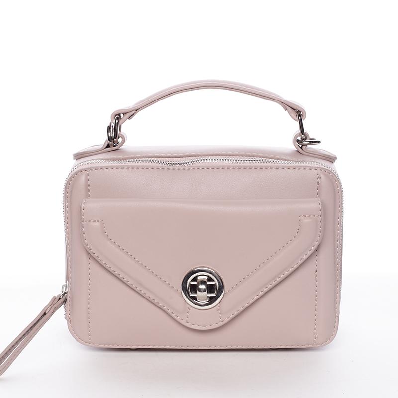Malá atraktivní růžová dámská crossbody kabelka - David Jones Lalita