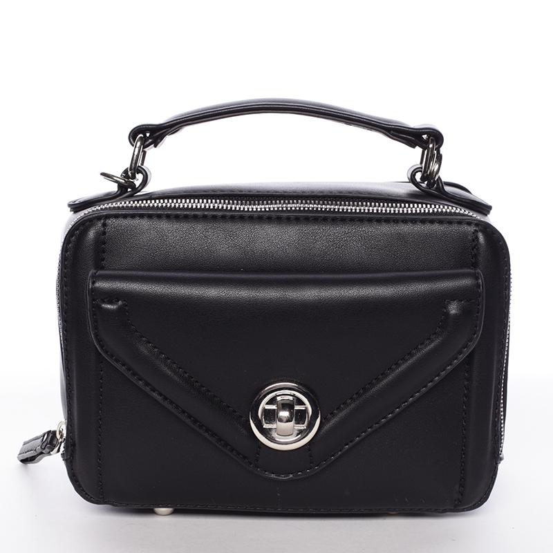 Malá atraktivní černá dámská crossbody kabelka - David Jones Lalita