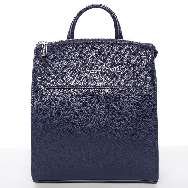 Dámský pevný moderní batoh tmavě modrý - David Jones Leandros
