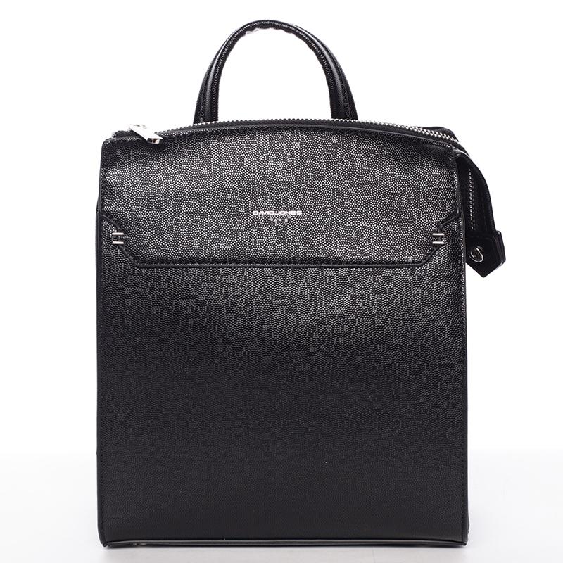Dámský pevný moderní batoh černý - David Jones Leandros