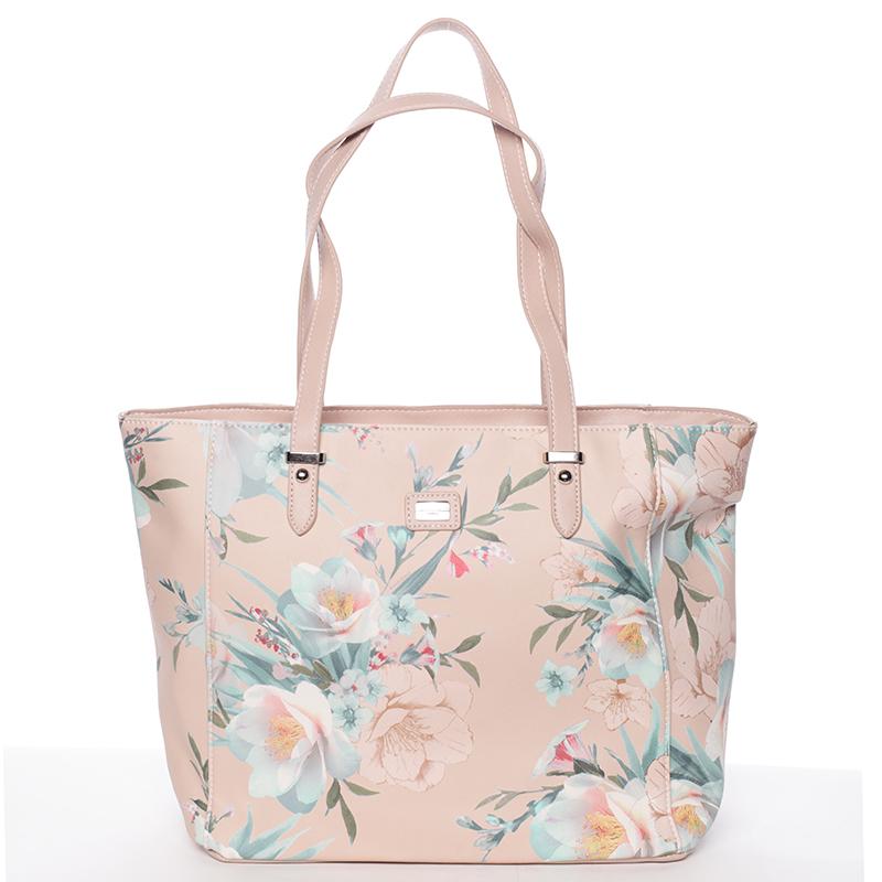 Moderní květinová kabelka přes rameno růžová - David Jones Kimora