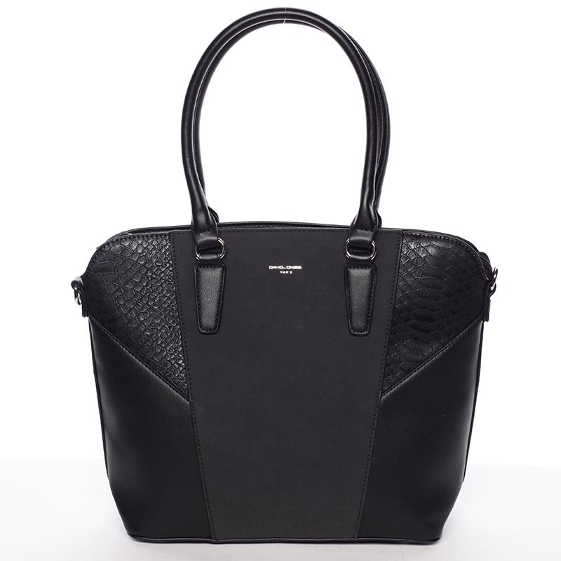 Elegantní dámská černá kabelka přes rameno - David Jones Lerisai