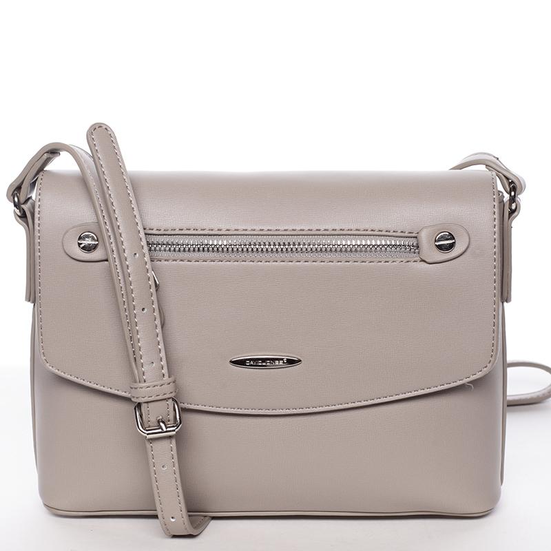 Menší módní crossbody kabelka šedá - David Jones Azalea