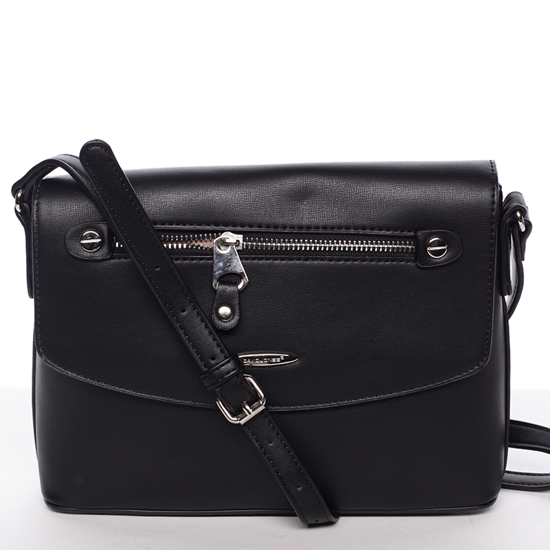Menší módní crossbody kabelka černá - David Jones Azalea