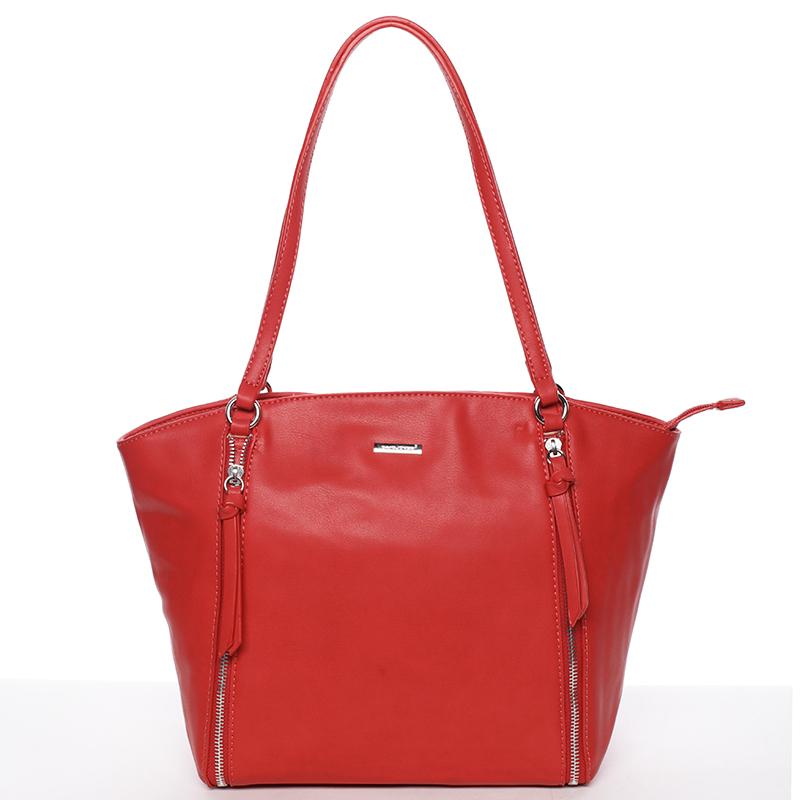 Luxusní dámská kabelka přes rameno červená - David Jones Lenore
