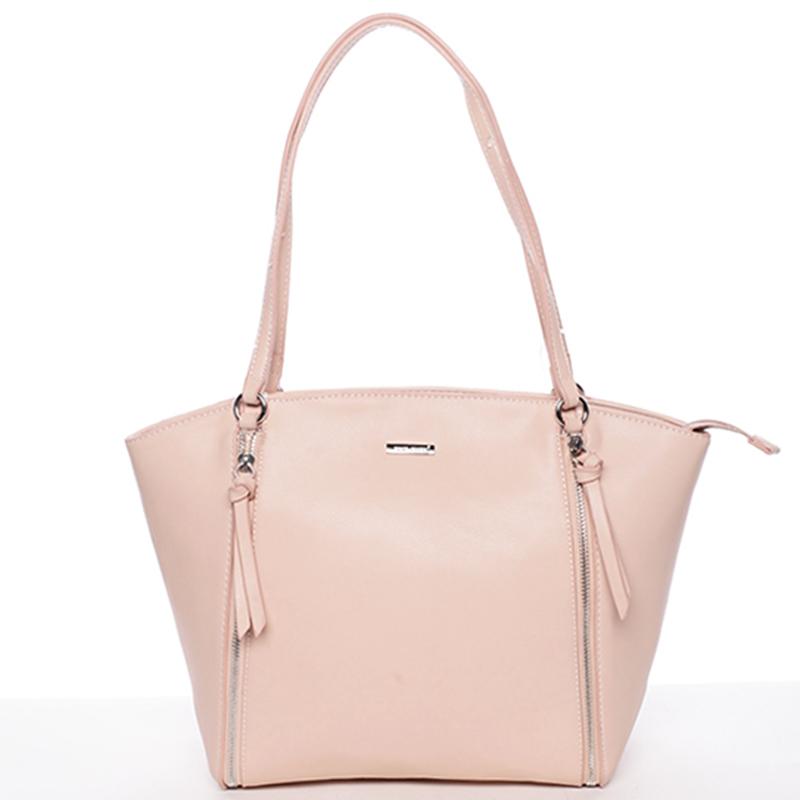 Luxusní dámská kabelka přes rameno růžová - David Jones Lenore