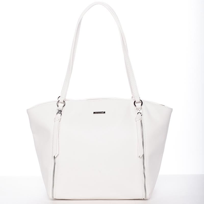 Luxusní dámská kabelka přes rameno bílá - David Jones Lenore