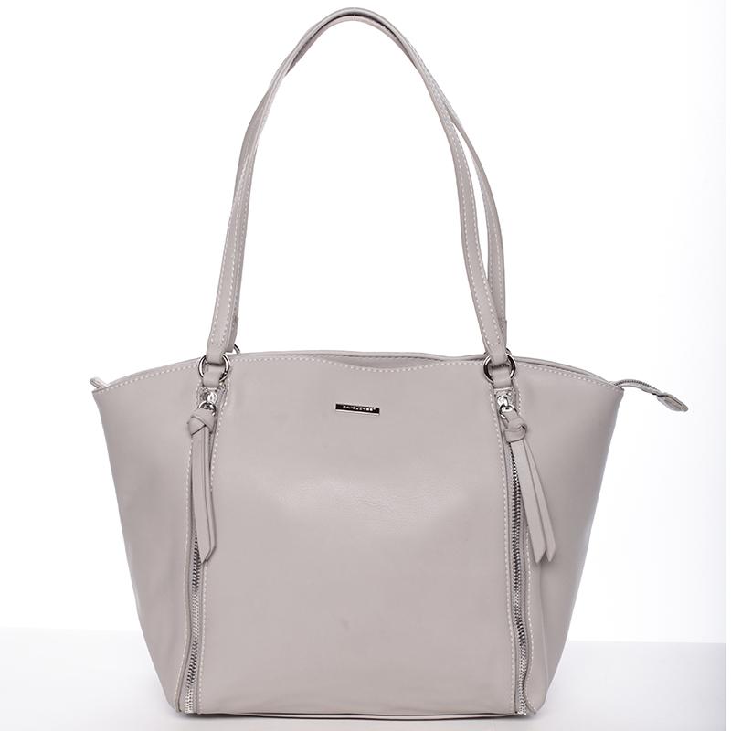 Luxusní dámská kabelka přes rameno šedá - David Jones Lenore