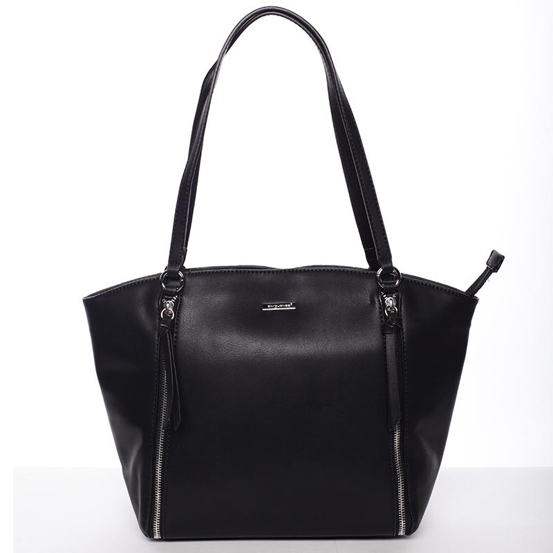 Luxusní dámská kabelka přes rameno černá - David Jones Lenore